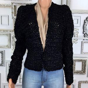 Estelle | Vintage Black Knit Blazer Size S/M